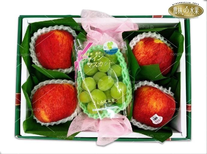 ShineMuscat日本精品麝香葡萄禮盒紐西蘭富士蘋果當季高級水果禮盒日本進口水果禮盒網購高級進口水果禮盒宅配送禮推薦